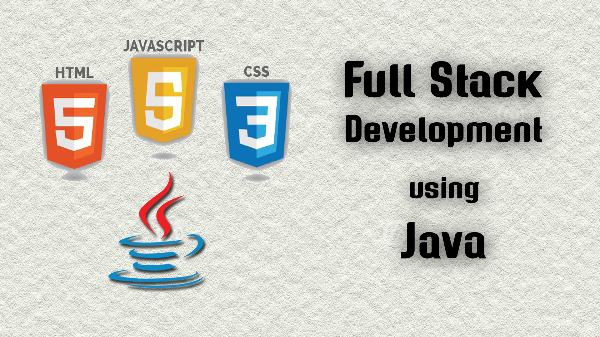 Full Stack Development using Java